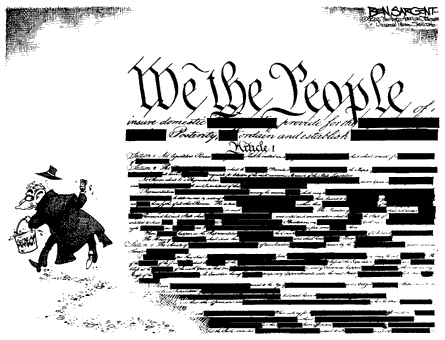 constitution cartoon by Ben Sargent