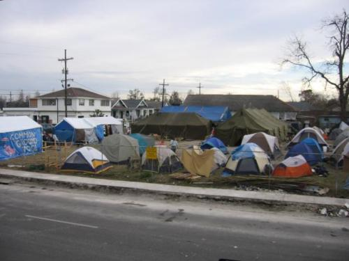 Tent City in New Orleans 9th ward