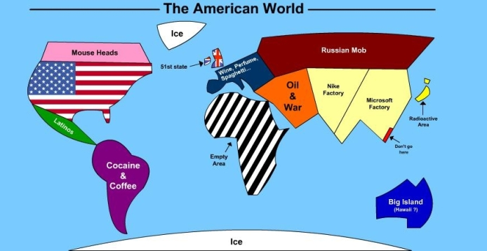 American world map